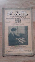 Le Guide du concert et des Théâtre Lyriques - Christie Moor - N°8 - 1927