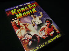Bruce Lee Kung Fu Mania - Collector 4 Pack DVD Series -  FACTORY SEALED