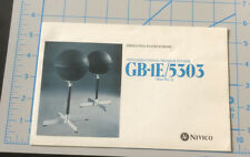 Vintage NIVICO JVC VICTOR Japan GB-1E 5303 Omni Speaker INSTRUCTIONS MANUAL