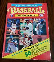 1990 HOTTEST PLAYERS BASEBALL STICKER ALBUM  ALL STICKERS