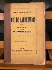 Donizetti Lucie de Lammermoor opéra partition pour piano seul éditions Mayaud