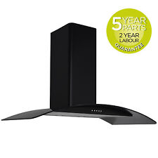 MyAppliances REF28327 100cm Curved Glass Kitchen Cooker Hood Extractor Fan Black