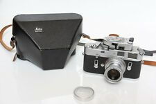Leica M4 silver chrome camera body + 50mm f/2.8 + light meter - Beautiful!!!