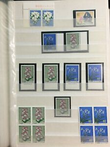 TCStamps 5X pages of Japan Orchid Flower Souvenir Sheet Postage Stamps  816 4oz