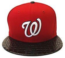 Washington Nationals New Era 9Fifty Crocodile Run Snapback Cap Hat Red Black