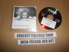 CD Pop Martha Wainwright - You Cheated Me (1 Song) Promo V2 RECORDS