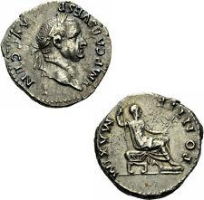Vespasian Denar Rom 73 PONTIF MAXIM Sella Curulis Zepter Zweig RIC II² 545