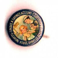 Early 1900s SAVINGS Account Clearing House BANK Denver & Associates pinback pin