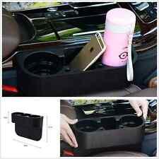 Dual-Cup Holder Catch Catcher Storage Organizer Box Caddy Car Seat Slit Pocket