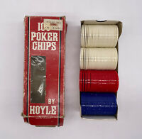 Hoyle Vintage Plastic Poker Chips 100 Count 3 Colors 1992
