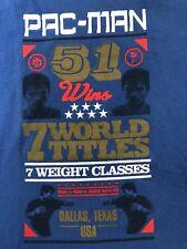 NIKE Legendary MANNY PACQUIAO PAC-MAN 7 WORLD TITLES BOXING 51 Wins T-shirt XL