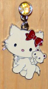 Hello Kitty and White baby kitten  Cell phone dust cover  PLug