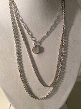LUCKY BRAND Silver To E Coin Layered Necklace $49 #167