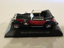 Ixo altaya miniature vehicle 1/43 horch 853a cabriolet 1938 W/ DISPLAY STAND