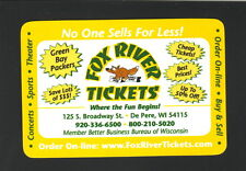 2012 Green Bay Packers Schedule--Fox River Tickets