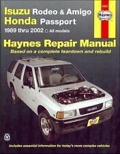 1989-2002 Isuzu Rodeo Amigo, Honda Passport Repair Manual 2001 2000 1999 98 4811