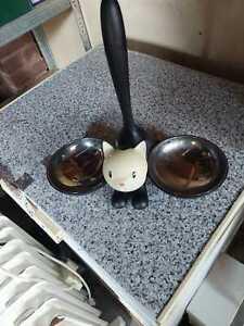 ALESSI Tigrito Cat Bowl - Black