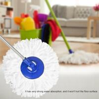 Replacement 360 Rotating Easy Magic Microfiber Spinning Floor Mop Head White