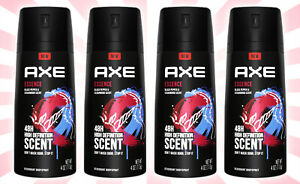 4 AXE Essence Men's Deodorant Body Spray 4 OZ