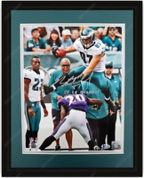 Brent Celek Autographed Philadelphia Eagles 11x14 Photo Hurdle Framed Beckett