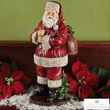 "Burton+Burton 15 1/2"" SANTA WITH BAG Christmas Figurine - Magical Santa 9726632"