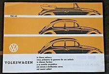 Volkswagen In These Colors 1961 Dealer Brochure