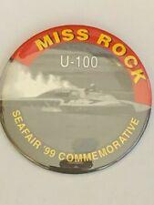 1999 Miss Rock U-100 Prototype Missing Autograph Seafair Hydroplane Button Pin