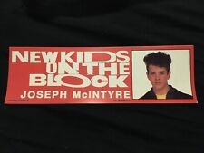 New Kids On The Block Bumper Sticker, 1990, Joey, Nkotb