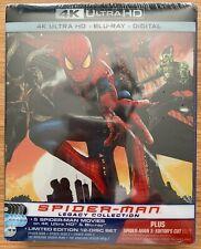 SPIDER-MAN LEGACY COLLECTION 4K UHD + Blu-ray + Digital Steelbook Brand New