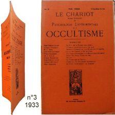 Le Chariot n°3/1933 revue Occultisme psychologie expérimentale astrologie amour