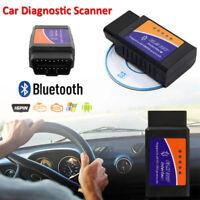 ELM327 Bluetooth OBD2 Car Diagnostics Scanner Code Reader for Mobile BMW AUDI