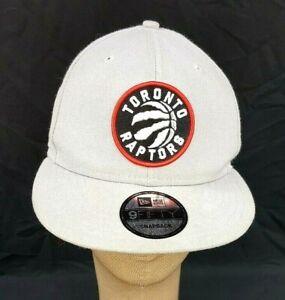 New Era Toronto Raptors 9Fifty 950 Snapback Hat Cap NBA Gray Eastern Conference