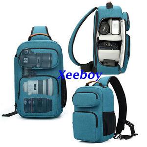 DSLR SLR Camera Sling Bag Waterproof Shoulder Backpack Case For Sony Canon Nikon