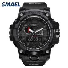 SMAEL Men Sport Watch Dual Analog Digital LED Electronic Male Wrist Watches Week