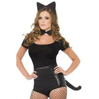 Women's Instant Cat Kit Naughty Fancy Dress Costume Kitty Hen Theme Halloween