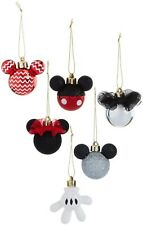 PRIMARK Disney Mickey Mouse Minnie Mouse Christmas Tree Decorations x6 Baubles