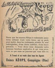 Z8293 Moyeux KEOPS - Pubblicità d'epoca - 1914 Old advertising