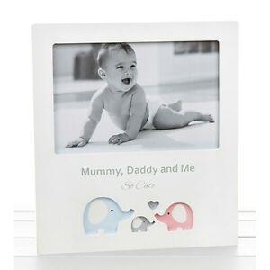 Mummy Daddy & Me Family Portrait Photo Frame So Cute Elephant Design 6 x 4