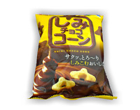 Shimi Choco cute star shaped corn puffs covered with milk chocolate Ginbis Japan