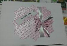 Biglietto invito nascita battesimo compleanno comunione  personalizzato farfalla