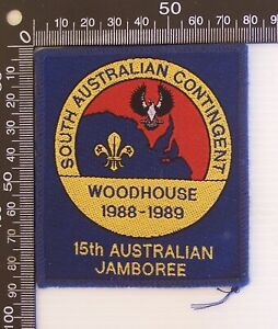 VINTAGE SCOUTS 15th JAMBOREE 1988 WOODHOUSE SOUTH AUSTRALIAN CONTINGENT BADGE