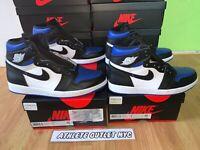 New Nike Air Jordan 1 Retro High Royal Toe Men's Size 8-11 Sneakers 575441-041