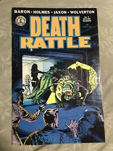 DEATH RATTLE #5 (1986 KITCHEN SINK PRESS) CAPTIVATING COVER & ART RARE HTF Fine