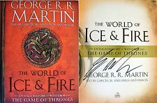 George R.R. Martin SIGNED World of Ice & Fire 1st Edition NEW + COA & Pics!
