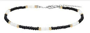 Women Trendy Bead Strand Beaded Choker Necklace Bohemian Handmade Collar Jewelry