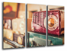 Cuadro Moderno Fotografico Radio Vintage base madera, 87 x 62 cm ref. 26227