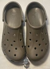 New Men's CROCS Beige Shoes Clogs Size 13 FREE SHIPPING