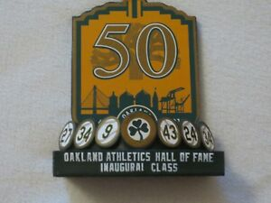 OAKLAND A'S INAUGURAL CLASS HALL OF FAME PLAQUE SGA 50TH ANNIVERSARY 9/5/18
