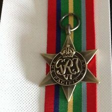 Pacific star full size replica medal