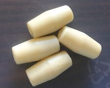 Vintage Japan Yummy Cream Column Tube Bamboo Look Lucite Bead Lot